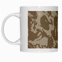Initial Camouflage Brown White Mugs by Mariart