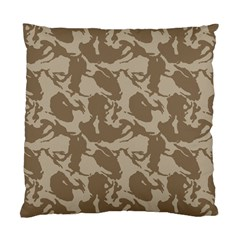 Initial Camouflage Brown Standard Cushion Case (one Side) by Mariart