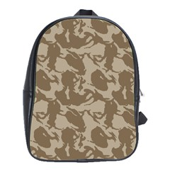 Initial Camouflage Brown School Bags(large)