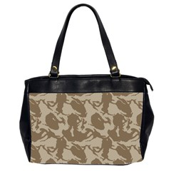 Initial Camouflage Brown Office Handbags (2 Sides)  by Mariart