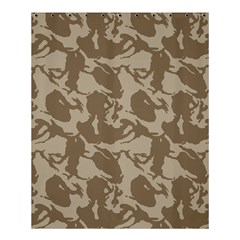 Initial Camouflage Brown Shower Curtain 60  X 72  (medium)  by Mariart