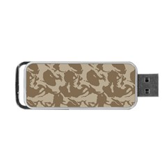 Initial Camouflage Brown Portable Usb Flash (two Sides) by Mariart