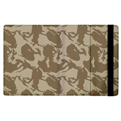 Initial Camouflage Brown Apple Ipad 3/4 Flip Case by Mariart