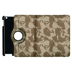 Initial Camouflage Brown Apple Ipad 3/4 Flip 360 Case by Mariart