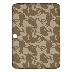 Initial Camouflage Brown Samsung Galaxy Tab 3 (10 1 ) P5200 Hardshell Case  by Mariart