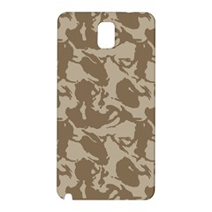 Initial Camouflage Brown Samsung Galaxy Note 3 N9005 Hardshell Back Case by Mariart