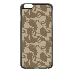Initial Camouflage Brown Apple Iphone 6 Plus/6s Plus Black Enamel Case by Mariart