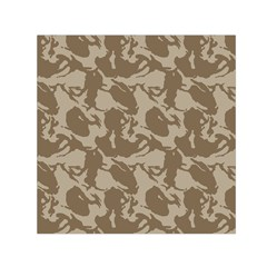 Initial Camouflage Brown Small Satin Scarf (square) by Mariart