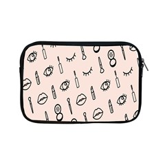 Makeup Tools Eye Mirror Pink Lip Apple Ipad Mini Zipper Cases by Mariart