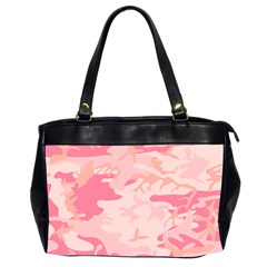 Initial Camouflage Camo Pink Office Handbags (2 Sides)  by Mariart