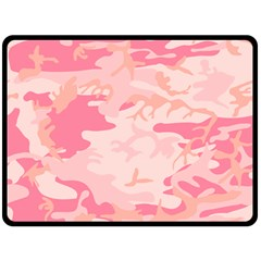 Initial Camouflage Camo Pink Fleece Blanket (large)  by Mariart