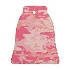 Initial Camouflage Camo Pink Bell Ornament (two Sides) by Mariart