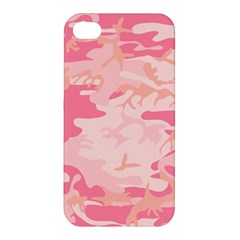Initial Camouflage Camo Pink Apple Iphone 4/4s Hardshell Case by Mariart