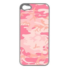 Initial Camouflage Camo Pink Apple Iphone 5 Case (silver)