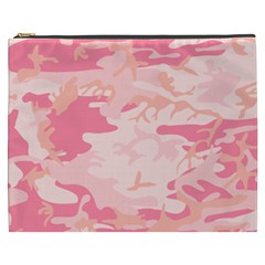 Initial Camouflage Camo Pink Cosmetic Bag (xxxl)  by Mariart