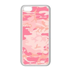 Initial Camouflage Camo Pink Apple Iphone 5c Seamless Case (white) by Mariart