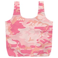 Initial Camouflage Camo Pink Full Print Recycle Bags (l)  by Mariart