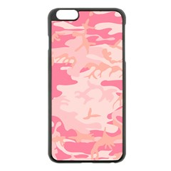 Initial Camouflage Camo Pink Apple Iphone 6 Plus/6s Plus Black Enamel Case by Mariart