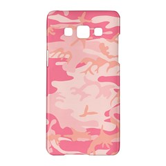 Initial Camouflage Camo Pink Samsung Galaxy A5 Hardshell Case  by Mariart