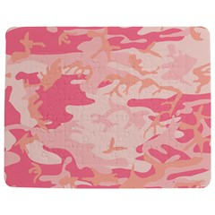 Initial Camouflage Camo Pink Jigsaw Puzzle Photo Stand (rectangular) by Mariart