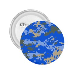 Oceanic Camouflage Blue Grey Map 2 25  Buttons by Mariart