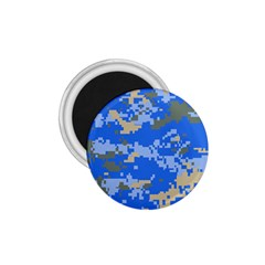 Oceanic Camouflage Blue Grey Map 1 75  Magnets by Mariart
