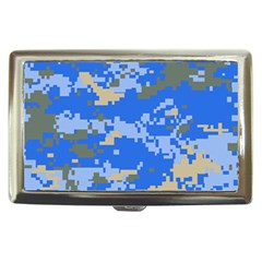 Oceanic Camouflage Blue Grey Map Cigarette Money Cases by Mariart