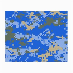 Oceanic Camouflage Blue Grey Map Small Glasses Cloth (2 Side) by Mariart