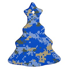 Oceanic Camouflage Blue Grey Map Ornament (christmas Tree)  by Mariart