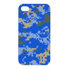 Oceanic Camouflage Blue Grey Map Apple Iphone 4/4s Premium Hardshell Case by Mariart