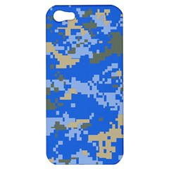 Oceanic Camouflage Blue Grey Map Apple Iphone 5 Hardshell Case by Mariart