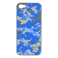 Oceanic Camouflage Blue Grey Map Apple Iphone 5 Case (silver) by Mariart