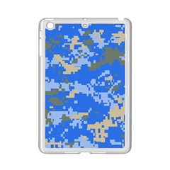 Oceanic Camouflage Blue Grey Map Ipad Mini 2 Enamel Coated Cases by Mariart