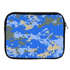 Oceanic Camouflage Blue Grey Map Apple Ipad 2/3/4 Zipper Cases by Mariart