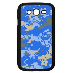 Oceanic Camouflage Blue Grey Map Samsung Galaxy Grand Duos I9082 Case (black) by Mariart