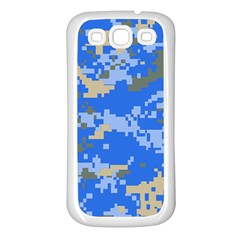 Oceanic Camouflage Blue Grey Map Samsung Galaxy S3 Back Case (white) by Mariart