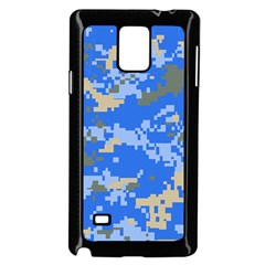 Oceanic Camouflage Blue Grey Map Samsung Galaxy Note 4 Case (black) by Mariart