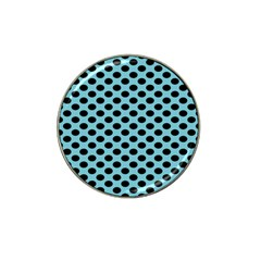 Polka Dot Blue Black Hat Clip Ball Marker (4 Pack) by Mariart