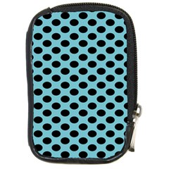 Polka Dot Blue Black Compact Camera Cases by Mariart