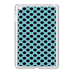 Polka Dot Blue Black Apple Ipad Mini Case (white) by Mariart