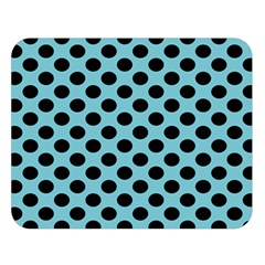 Polka Dot Blue Black Double Sided Flano Blanket (large)  by Mariart