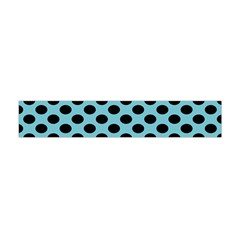 Polka Dot Blue Black Flano Scarf (mini) by Mariart