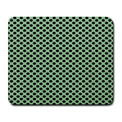 Polka Dot Green Black Large Mousepads by Mariart