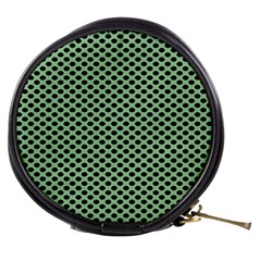 Polka Dot Green Black Mini Makeup Bags by Mariart