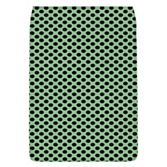 Polka Dot Green Black Flap Covers (l)  by Mariart