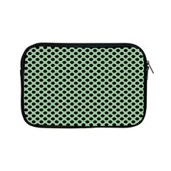 Polka Dot Green Black Apple Ipad Mini Zipper Cases by Mariart