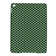 Polka Dot Green Black Ipad Air 2 Hardshell Cases by Mariart