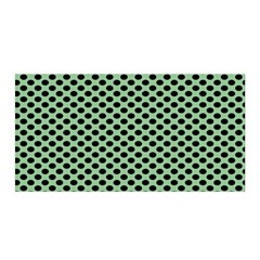 Polka Dot Green Black Satin Wrap by Mariart