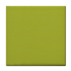 Polka Dot Green Yellow Tile Coasters by Mariart