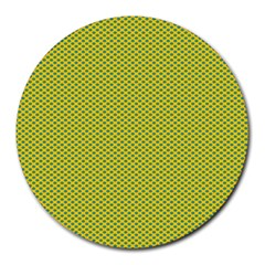 Polka Dot Green Yellow Round Mousepads by Mariart